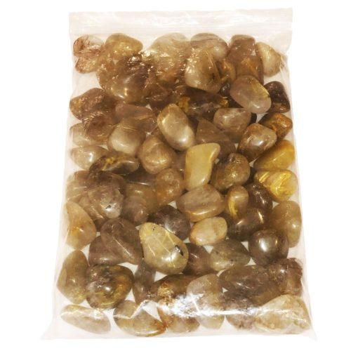 sachet pierres roulées quartz rutile 1kg