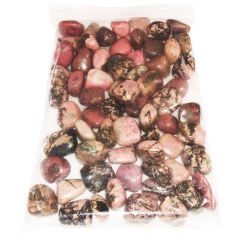 sachet pierres roulées rhodonite 1kg