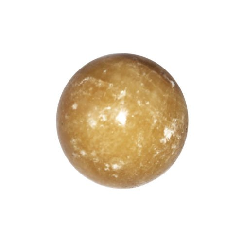 sphere calcite orange 40mm