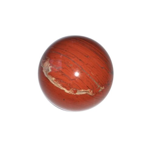sphere jaspe rouge 40mm