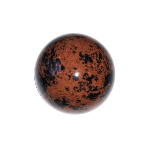 sphere obsidienne acajou 40mm