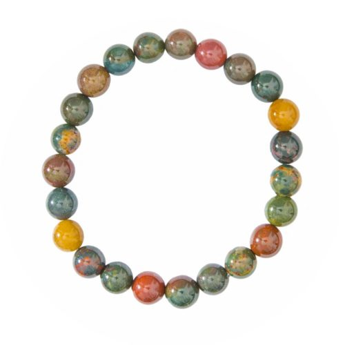 bracelet jaspe sanguin 8mm