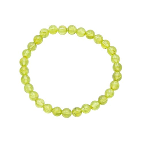Bracelet chrysolite 6mm