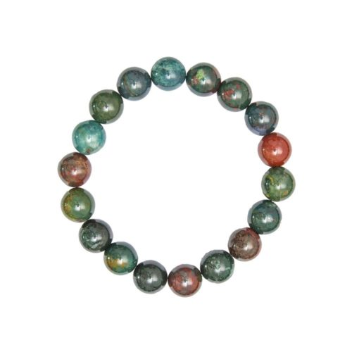 bracelet jaspe sanguin 10mm