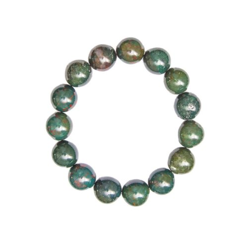 bracelet jaspe sanguin 12mm
