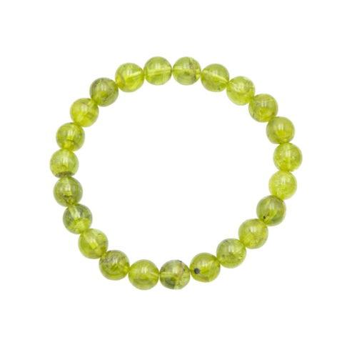 bracelet olivine 8mm