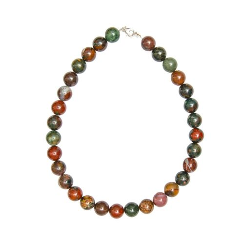 collier jaspe sanguin 14mm