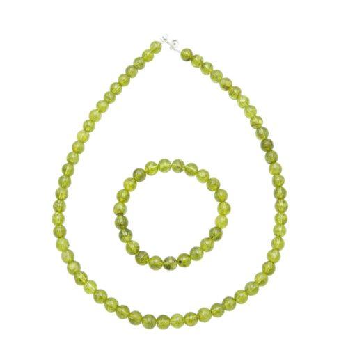 parure olivine 8mm