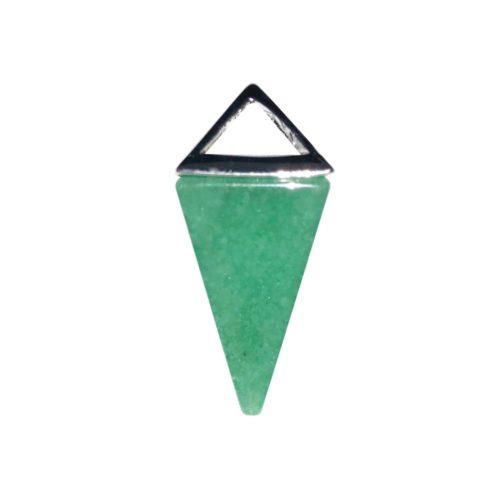 pendentif aventurine pyramide argent