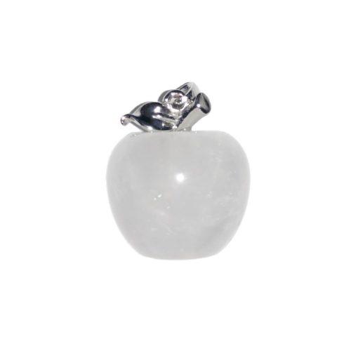pendentif cristal de roche pomme