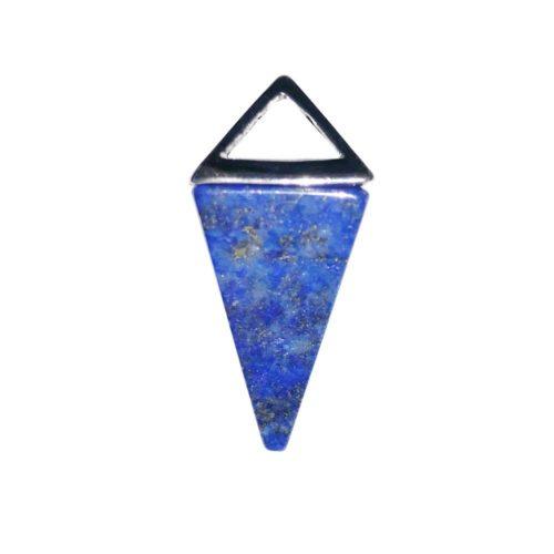 pendentif lapis lazuli pyramide argent