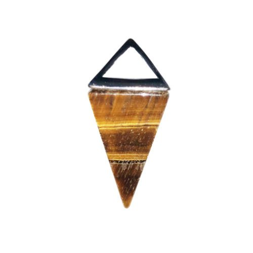 pendentif oeil de tigre pyramide argent