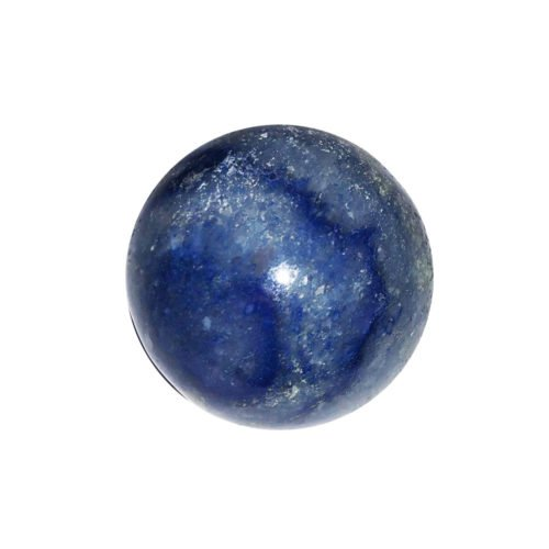 sphere quartz bleu 40mm