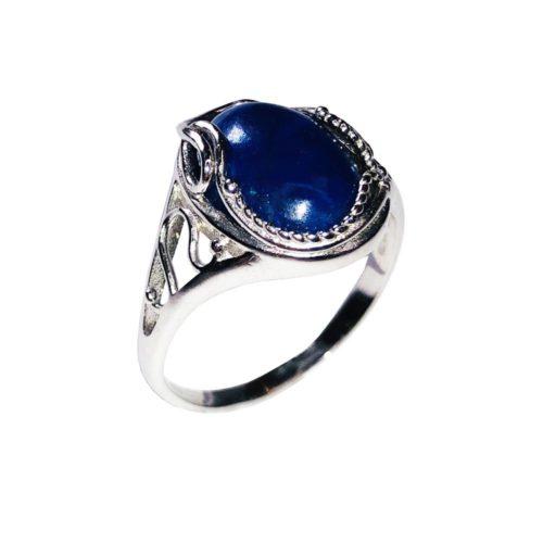 bague lapis lazuli argent rhodie