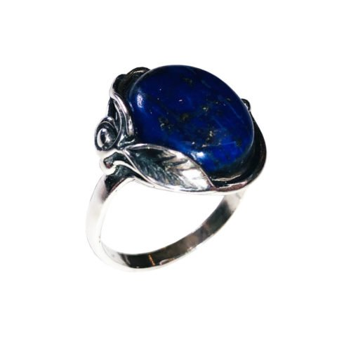 bague lapis lazuli argent rhodié
