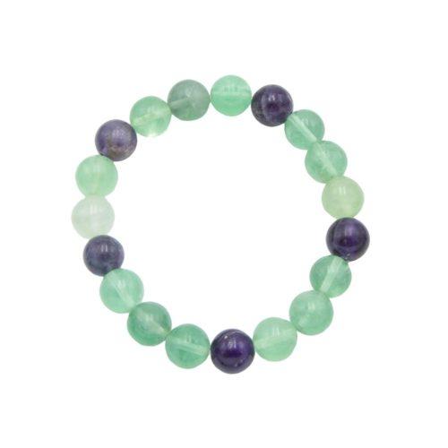 bracelet fluorine multicolore 10mm