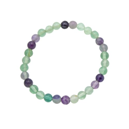 bracelet fluorine multicolore 6mm