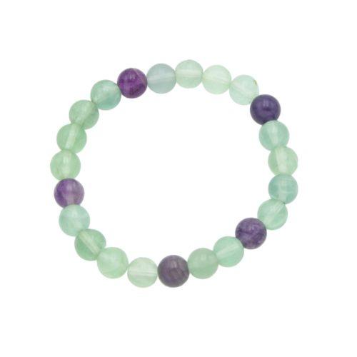 bracelet fluorine multicolore 8mm