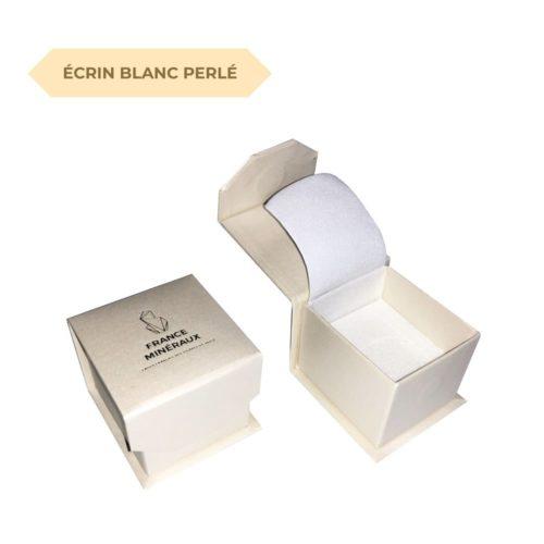 écrin blanc perlé s