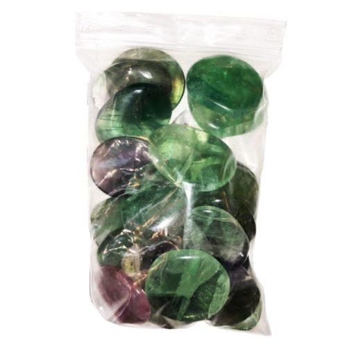 sachet galets Fluorite multicolore