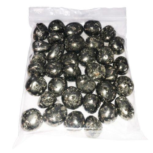 sachet pierres roulées pyrite du pérou 1kg