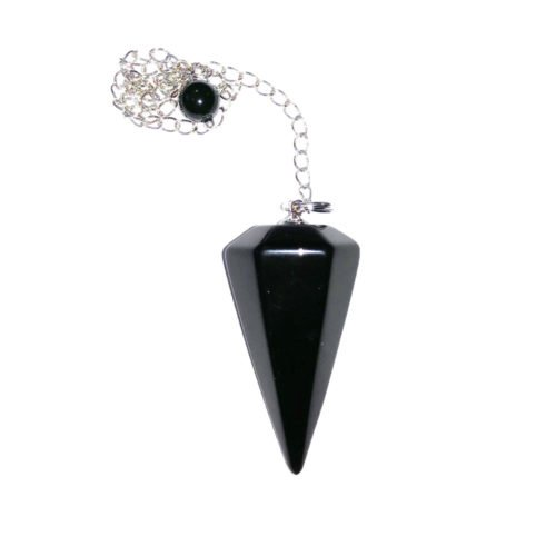 pendule-tourmaline-noire-hexagonal