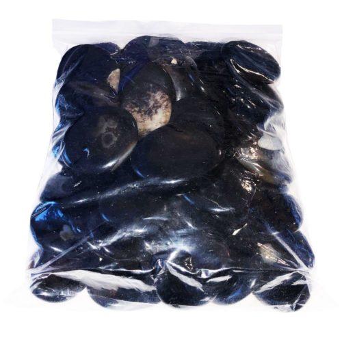 sachet galets agate noire