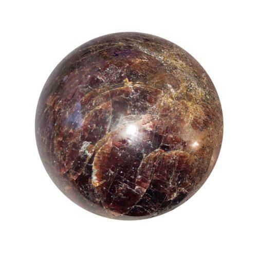 Sphère Grenat rouge