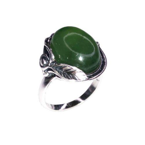 bague jade argent rhodie