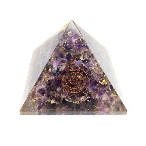 pyramide orgonite amethyste 60 70mm