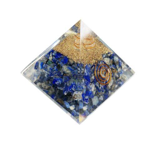 pyramide orgonite lapis lazuli 60 70mm
