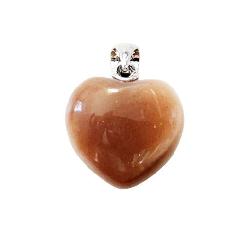 pendentif pierre de lune petit coeur