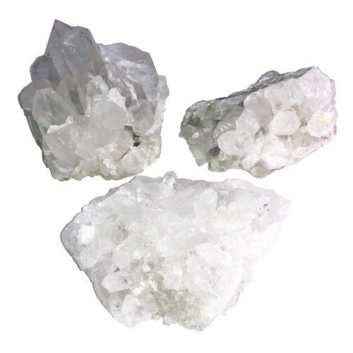 amas de quartz taille l