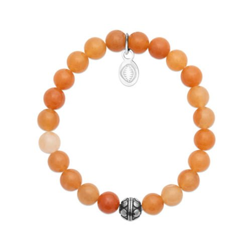Bracelet Aventurine orange et Sphère