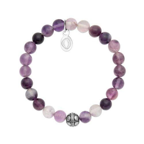 Bracelet Fluorite et Sphère