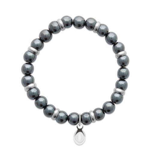 bracelet hématite et anneaux