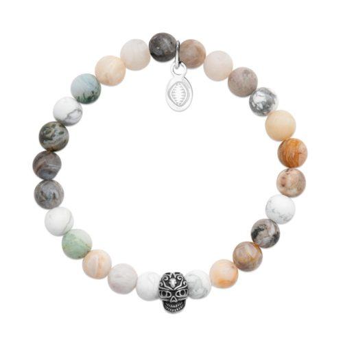 bracelet-howlite-agate-et-crane