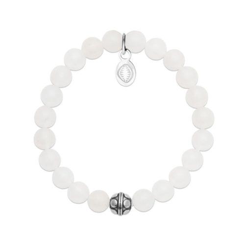 Bracelet Jade blanc et Sphère