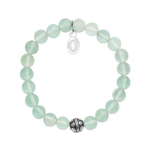 Bracelet Jade vert et Sphère