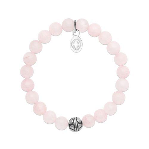 Bracelet Quartz rose et Sphère
