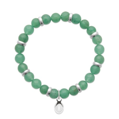 Bracelet Quartz vert et Anneaux