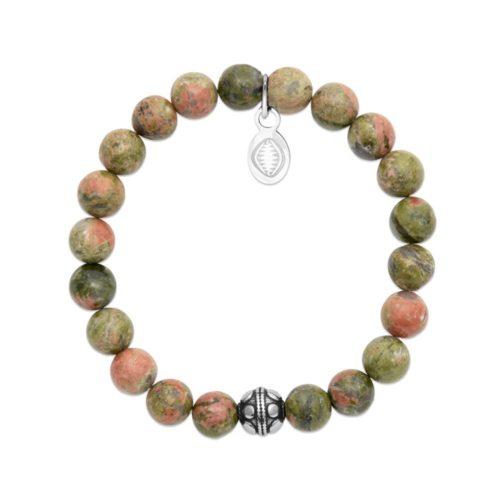 Bracelet Unakite et Sphère