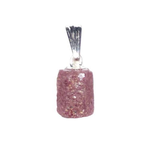 pendentif rubis pierre brute