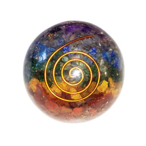 sphere orgonite 7 chakras 55mm
