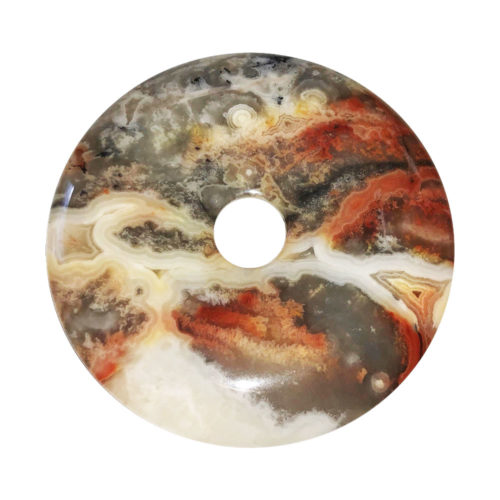 pi chinois donut agate crazy lace 50mm