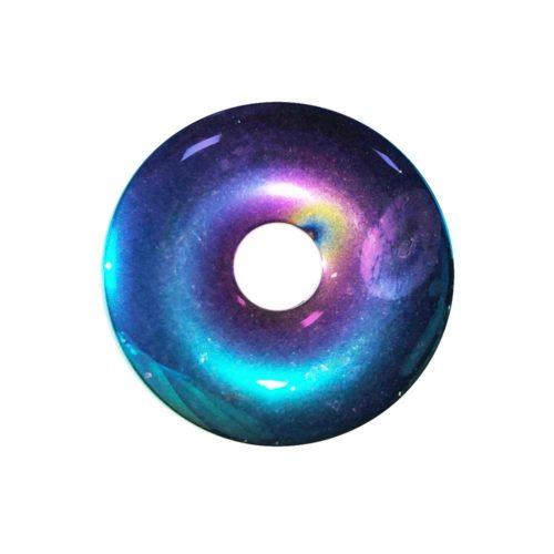 pi chinois donut hématite arc-en-ciel 30mm