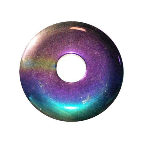 pi chinois donut hematite arc-en-ciel 40mm
