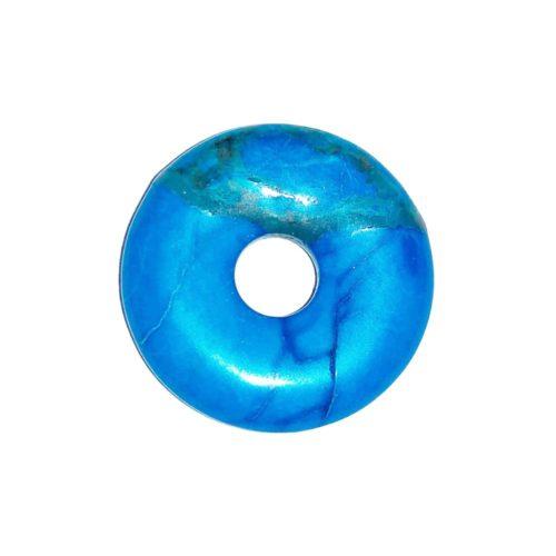 pi chinois donut howlite bleue 20mm