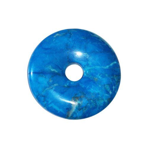 pi chinois donut howlite bleue 30mm