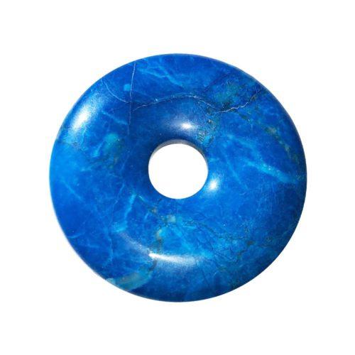 pi chinois donut howlite bleue 40mm